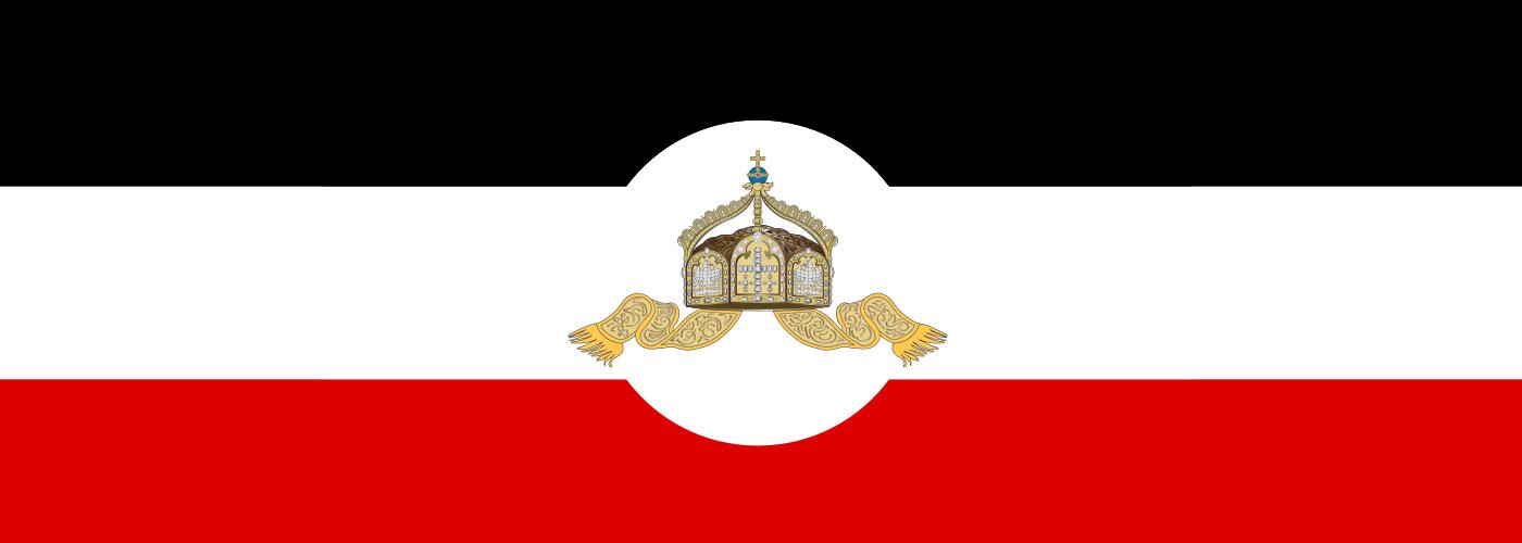 Flaggen und Symbole des Nationalstaat Deutschland und des Deutschen Reiches
